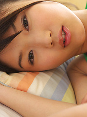 Noriko Kijima Asian has big tits and hot ass in colorful lingerie - Erotic and nude pussy pics at GirlSoftcore.com