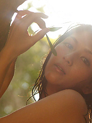 Neo Asian babe with hot curves comes from water like a goddess - Erotic and nude pussy pics at GirlSoftcore.com