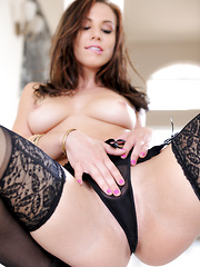 Treat for August Aidra Fox loves the feel of her sexy body - Erotic and nude pussy pics at GirlSoftcore.com