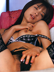 Mihiiro Asian model takes lingerie off and exposes her hot curves - Erotic and nude pussy pics at GirlSoftcore.com