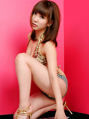 Chihiro Akiha Asian on heels and in very short pants is willing - Erotic and nude pussy pics at GirlSoftcore.com