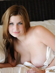 Danielle wakes up all wet and ready - Erotic and nude pussy pics at GirlSoftcore.com