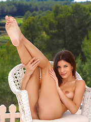 Against a picturesque background of rolling mountains, blue skies, and lush vineyard, Candice Luka showcases her gorgeous in a variety of wide open, explicit poses that will take your breath away. - Erotic and nude pussy pics at GirlSoftcore.com