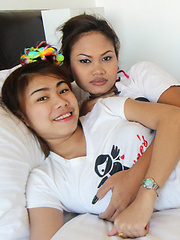 Two tight-ass Thai babes share cock in MFF threesome - Erotic and nude pussy pics at GirlSoftcore.com