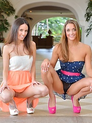 Mary and Aubrey Models at Play - Erotic and nude pussy pics at GirlSoftcore.com