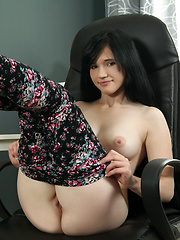 Fresh faced beauty with big puffy nipples gets naughty with her juicy twat - Erotic and nude pussy pics at GirlSoftcore.com