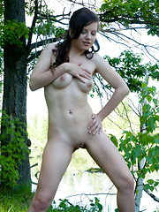 This brunette cutie loves to spend some time naked in nature, where she can expose her irresistible wildness. - Erotic and nude pussy pics at GirlSoftcore.com