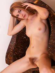 Her eyes will surely catch your attention all the time, but that is before she reveals her hairy pussy to the camera. - Erotic and nude pussy pics at GirlSoftcore.com