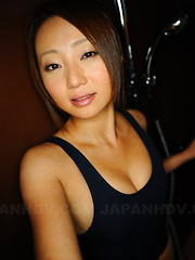 Sexy ass babe You Shiraishi poses in her room - Erotic and nude pussy pics at GirlSoftcore.com