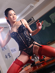 Arousing Yui Komine poses in her lingerie - Erotic and nude pussy pics at GirlSoftcore.com