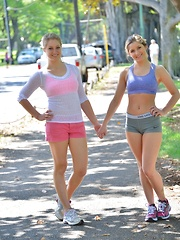 Nicole and Veronica Kapiolani Park - Erotic and nude pussy pics at GirlSoftcore.com