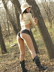 Destiny Moody ventures into the woodlands for a chilly yet thrilling display of naked beauty - Erotic and nude pussy pics at GirlSoftcore.com