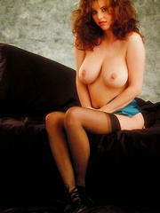 Julia Parton - oozes sensuality in this classic pictorial - Erotic and nude pussy pics at GirlSoftcore.com