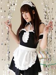 Japanese maid Tsubasa Sakurai - Erotic and nude pussy pics at GirlSoftcore.com