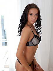 Diana G\'s matching lingerie accentuates her long, flexible body and perfectlt tanned complexion.