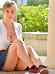 Lindsey Busty Schoolgirl - Erotic and nude pussy pics at GirlSoftcore.com
