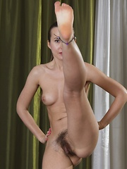 Lita shows off her exercising and sexy hairy body - Erotic and nude pussy pics at GirlSoftcore.com