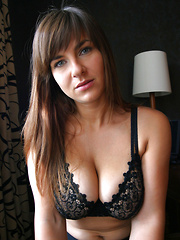 Jastin Erato in black bra