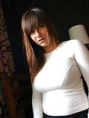 Jastin Erato in black bra - Erotic and nude pussy pics at GirlSoftcore.com
