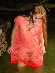 Sexy water stripping with the erotic Alya Shon - Erotic and nude pussy pics at GirlSoftcore.com
