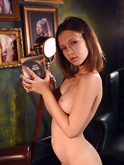 She sinks inside a world where she rules with her burning lust and every move she makes, gets her even hornier. - Erotic and nude pussy pics at GirlSoftcore.com