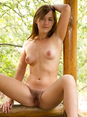 Era shows off her hairy pussy outside in heels - Erotic and nude pussy pics at GirlSoftcore.com
