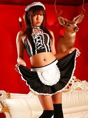 Hot Asian bitch Mahiru Tsubaki  shows off