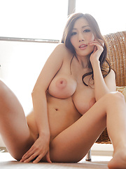 Julia Asian with sexy legs shows big boobs in all their splendour - Erotic and nude pussy pics at GirlSoftcore.com